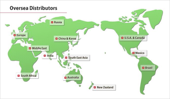 Oversea Distributors|Distribution Network|NIPPON